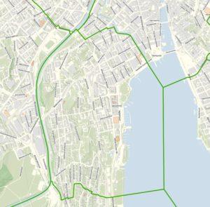 Quartier Enge im Stadtplan von Zürich