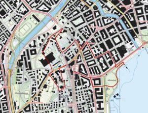 Quartierführung grüne Enge Plan